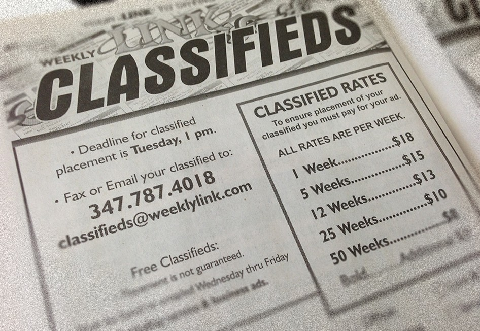 View Classifieds – Weekly Link