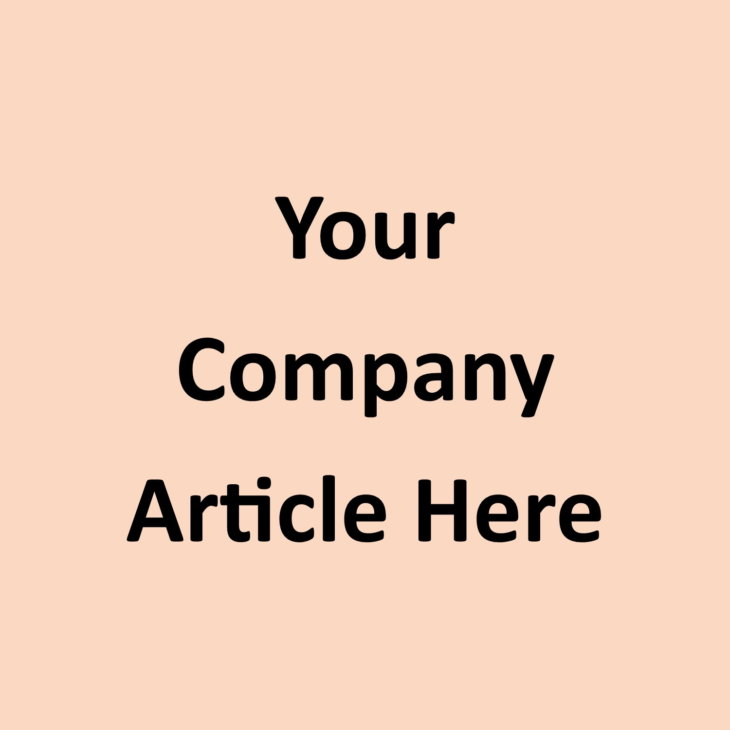 Your Company Article Here